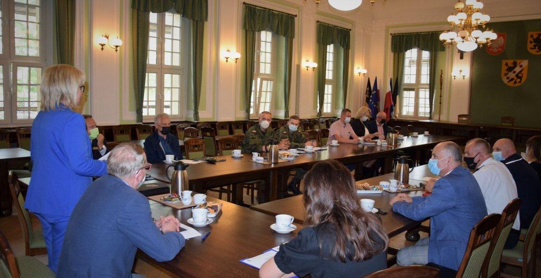 Komisja Bezpieczeństwa i Porządku przy Staroście Wejherowskim oraz Powiatowy Zespół Zarządzania Kryzysowego
