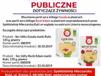 Ostrzeżenie publiczne dotyczące żywności