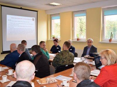 Ćwiczenia Powiatowego Zespołu Zarządzania Kryzysowego - 10.10.2019 r.
