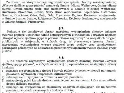 Rozporządzenie Powiatowego Lekarza Weterynarii w Wejherowie